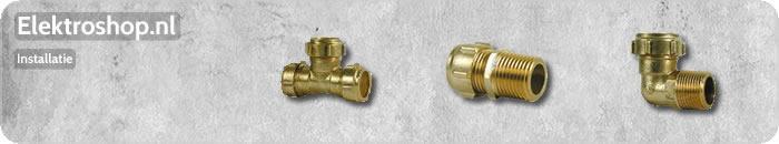 Elektroshop installatie conex CV buizen buis koppelingen water afvoer waterleidingen pvc hulpstukken.