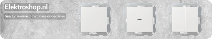 Gira E2 drukvlakschakelaars zuiverwit mat wisselschakelaar enkelpolig dubbelpolig wissel-wisselschakelaar