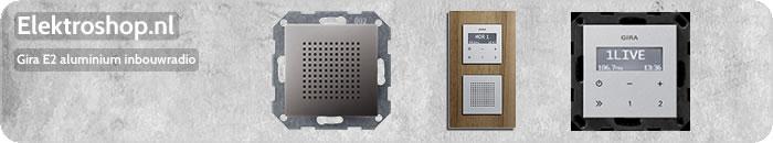 Gira E2 aluminium inbouwradio luidspreker muziek badkamer geluid