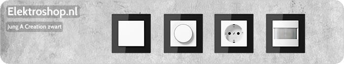 Jung A Creation zwart glas schakelmateriaal