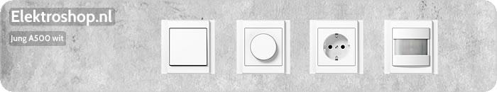 Jung A500 wit schakelmateriaal afdekramen dimmers muziek center losse onderdelen schakelaars drukknoppen wippen