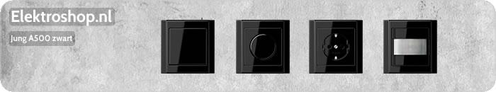 Jung A500 dimmers zwart schakelmateriaal