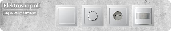 Jung LS Design afdekramen aluminium schakelmateriaal