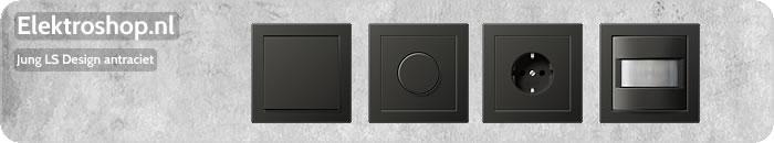 Jung LS Design afdekramen antraciet schakelmateriaal