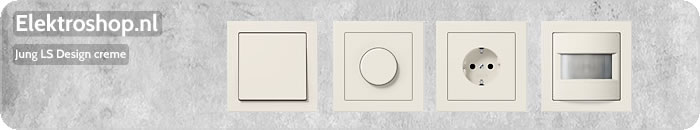 Jung LS Design afdekramen creme schakelmateriaal