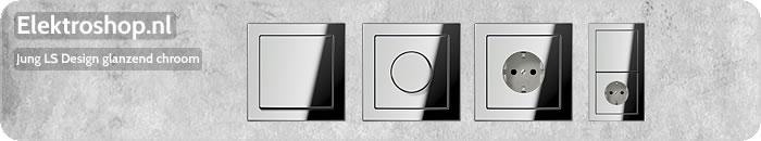 Jung LS Design afdekramen glanzend chroom afdekraam