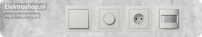 Jung LS Design afdekramen lichtgrijs schakelmateriaal