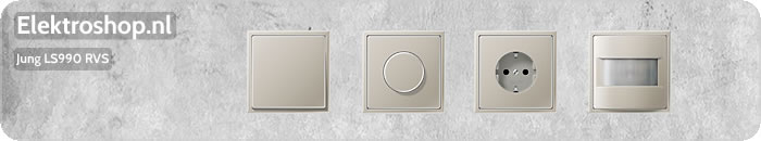 Jung LS990 losse onderdelen edelstaal schakelmateriaal