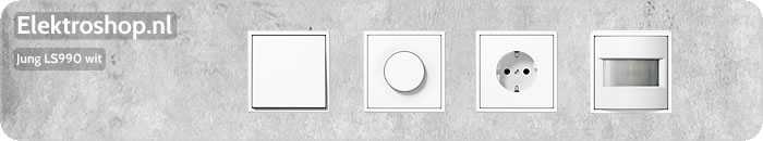 Jung LS990 wit tiptoetsschakelaars schakelmateriaal afdekramen dimmers muziek center losse onderdelen schakelaars drukknoppen wippen
