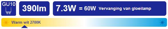 LED lamp GU10 vervanger 50W halogeenlamp 230V