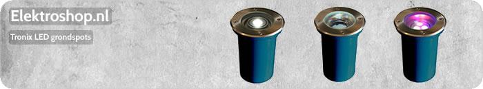 Tronix LED grondspots 2,5W 6,5W 7,5W 16W 26W 38W 1 3 9 15 of 21 LEDs