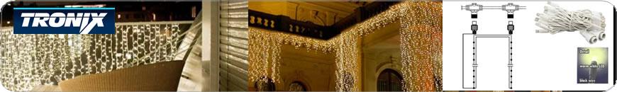LED kerstverlichting 80cm gordijnverlichting professioneel