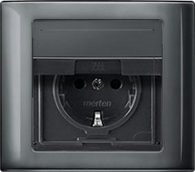 Buitenstopcontact Aquadesign Compleet Met Afdekraam Klapdeksel Waterdicht Antraciet aanbieding
