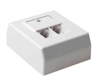 "Cat5e utp connector     wandcontactdoos opbouw lsa    <table class=""article specificationstable"" ..."