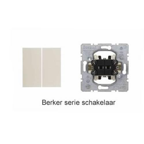 Berker S1 serieschakelaar met drukknop creme glanzend